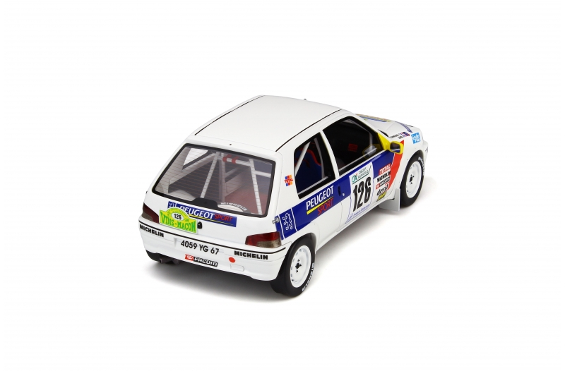 Peugeot 106 rally sébastien loeb rally del Vins Macon 1997 1:18 Otto Mobile 282